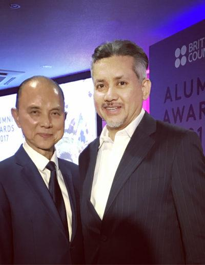 Eddie Razak with Datuk Jimmy Choo at British Alumni Awards – March 2017