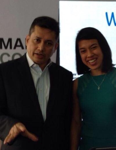 Eddie Razak with Datuk Nicol Ann David