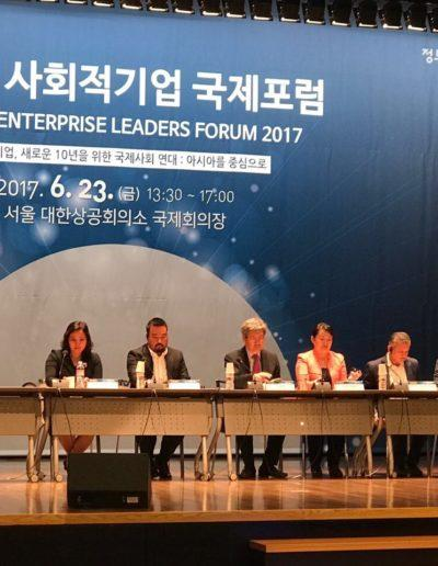 Eddie Razak speaking at Social Enterprise Leaders Forum 2017 Seoul Korea 23 June 2017