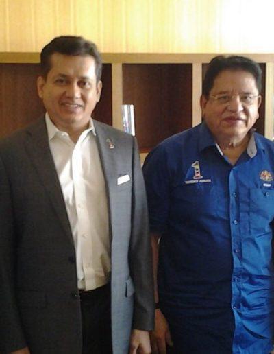 Eddie Razak visiting Minister YB Datuk Seri Utama Tengku Adnan – Jan 2016
