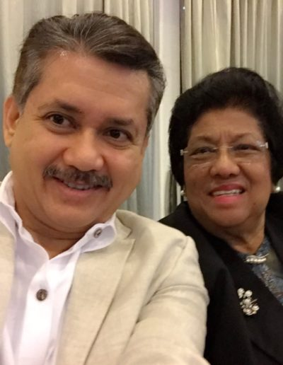 Eddie Razak with Dato Leela Mohd Ali Yayasan Budi Penyayang